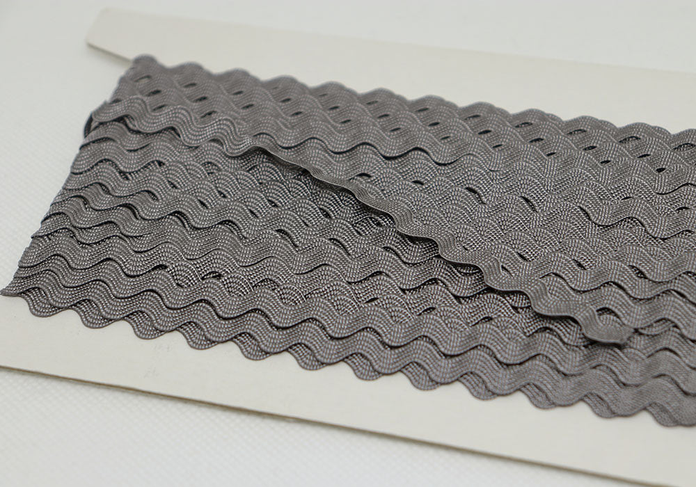 Ric Rac Ribbon Grey