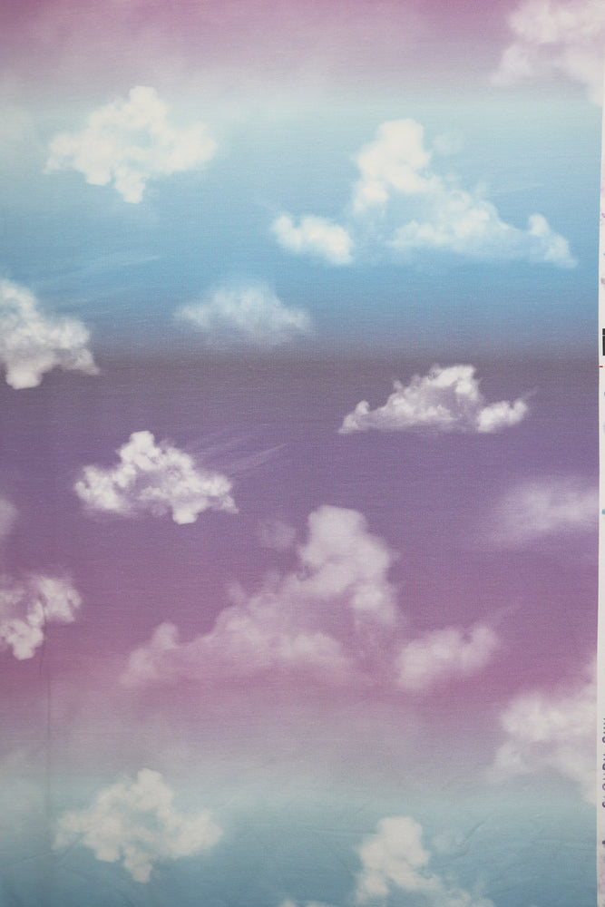 Load image into Gallery viewer, French Terry Cloudy Sky Lilac