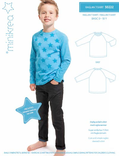 Pattern Raglan T-Shirt