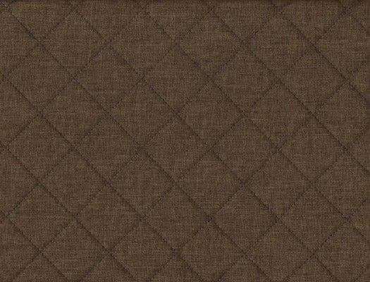 Quilted Deco Fabric Brown