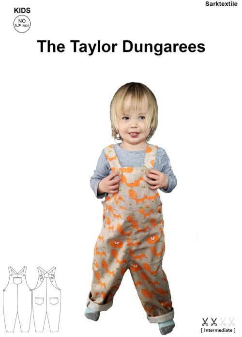 Load image into Gallery viewer, Pattern Dungarees 3-10yrs