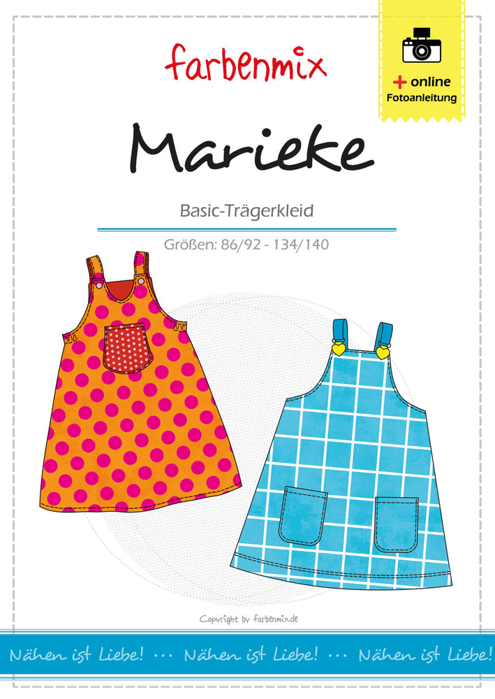 Pattern Pinafore Dress MARIEKE