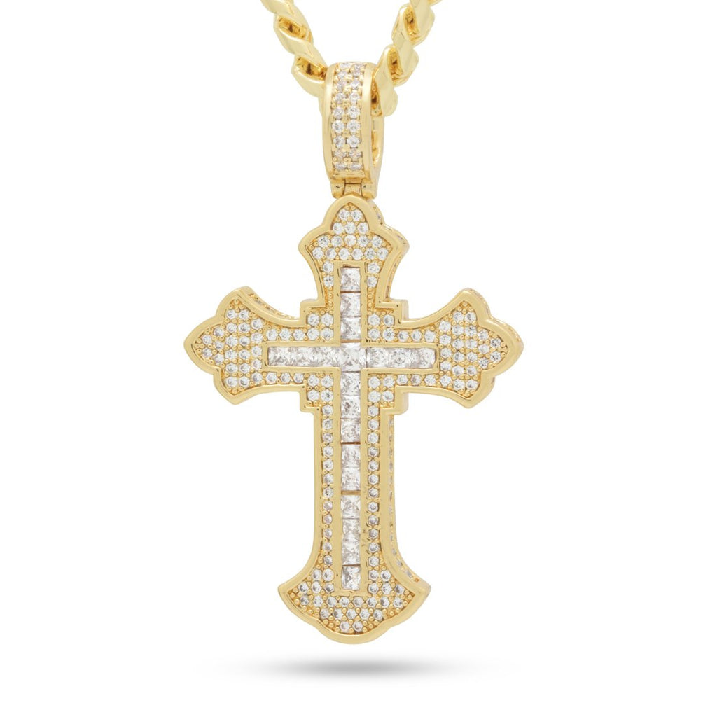 2pac x King Ice - Fleur de Lis Cross Necklace