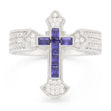 2pac x King Ice - Fleur de Lis Cross Ring