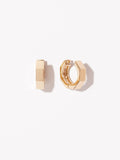 Hardware Hoop Earrings - Octo Small