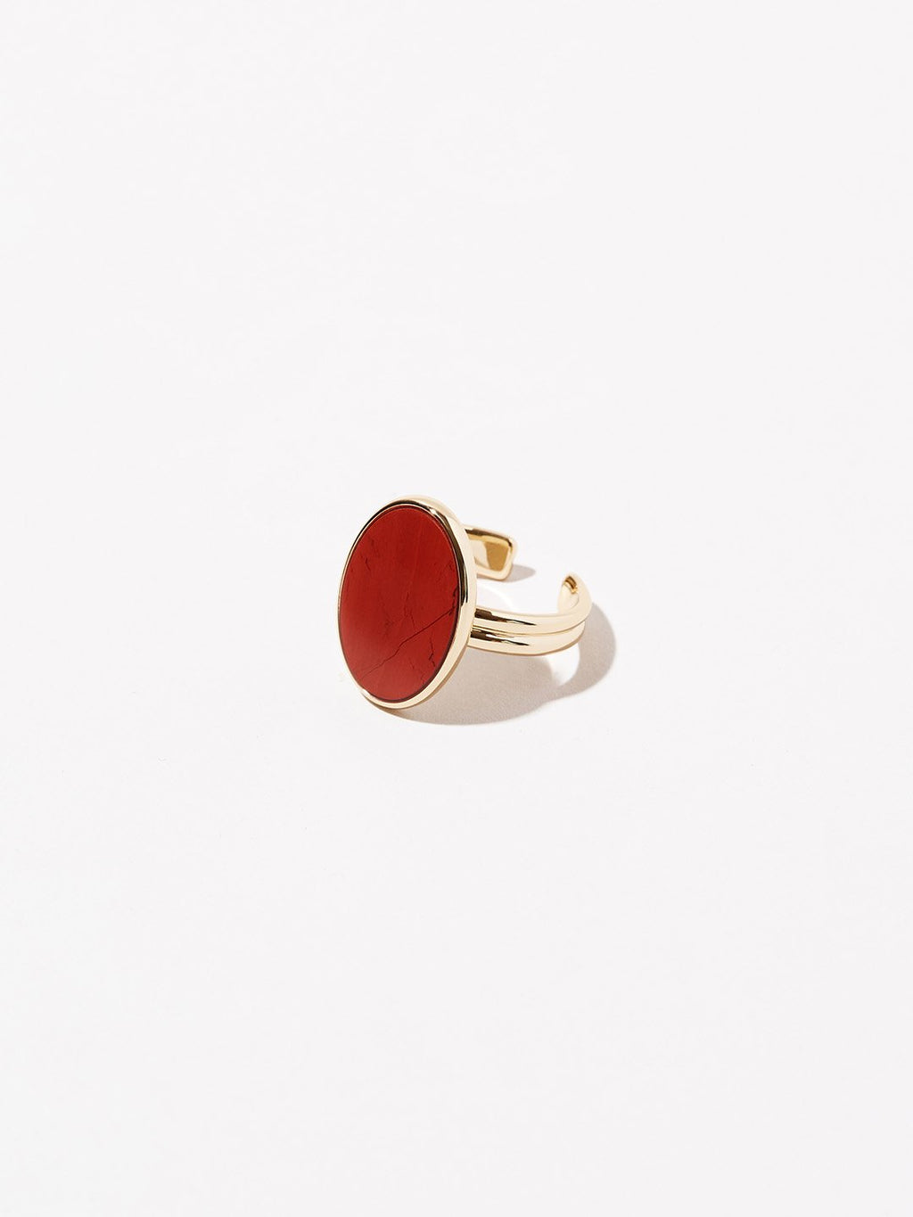 Oval Stone Ring - Mara Red Jasper