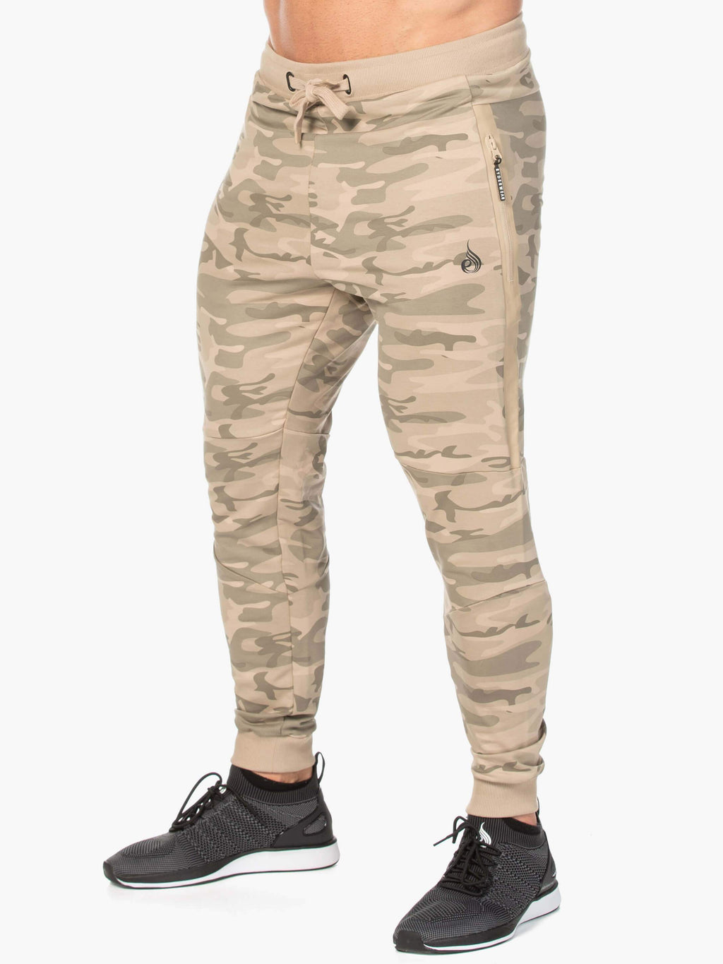 Camo Fleece Track Pant - Tan Camo