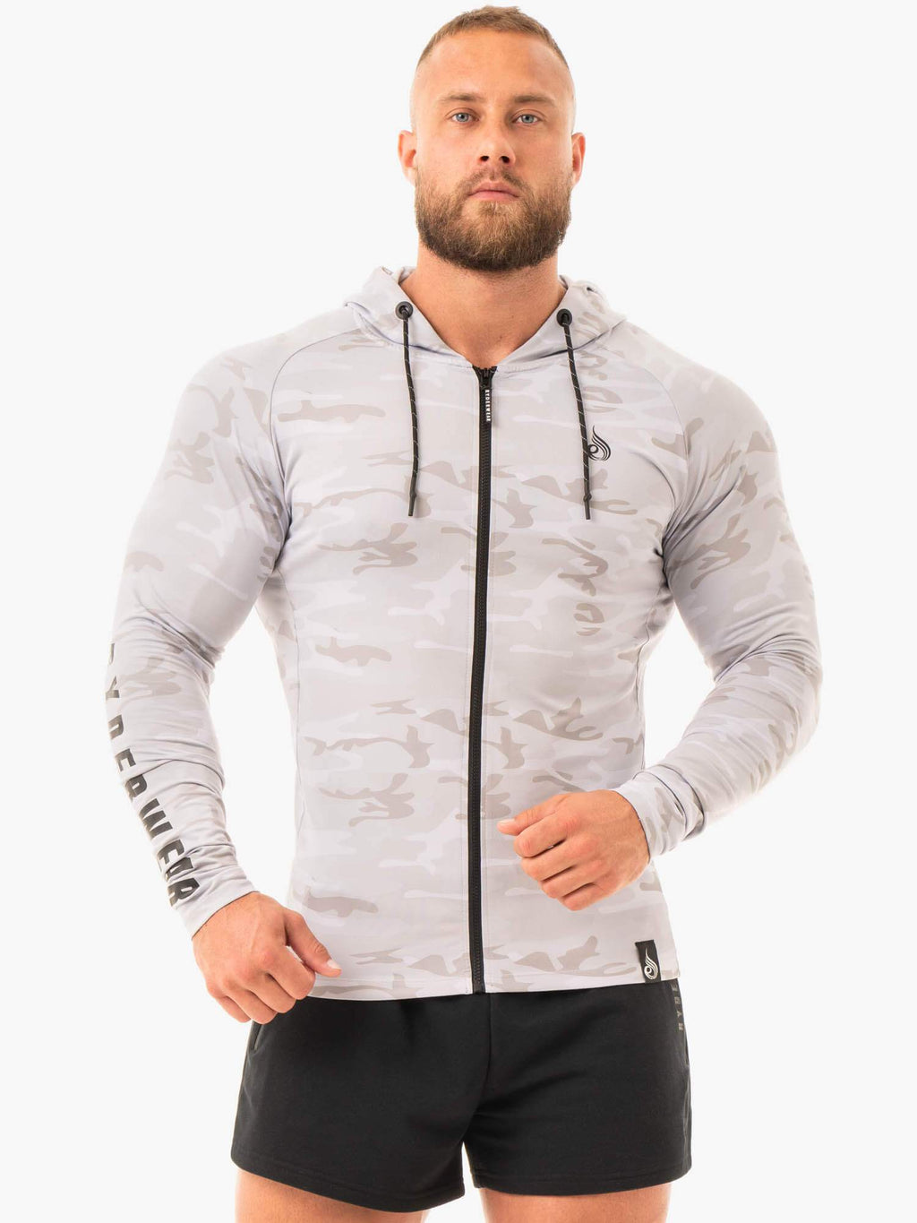 Combat Zip Up Jacket - Grey Camo