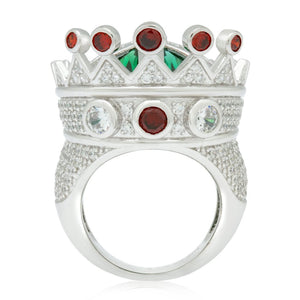 Iced Crown Ring