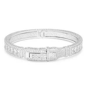 Princess Cut Bangle Bracelet