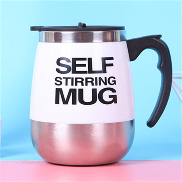 400/450ML Coffee Mug Stainless Steel Magnetic Self Stirring Automatic Milk Mixing Mugs Electric Lazy Smart Shaker Coffee Cup