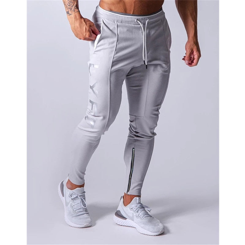 Sports pants men's jogger fitness sports trousers new fashion printed muscle men's fitness training pants