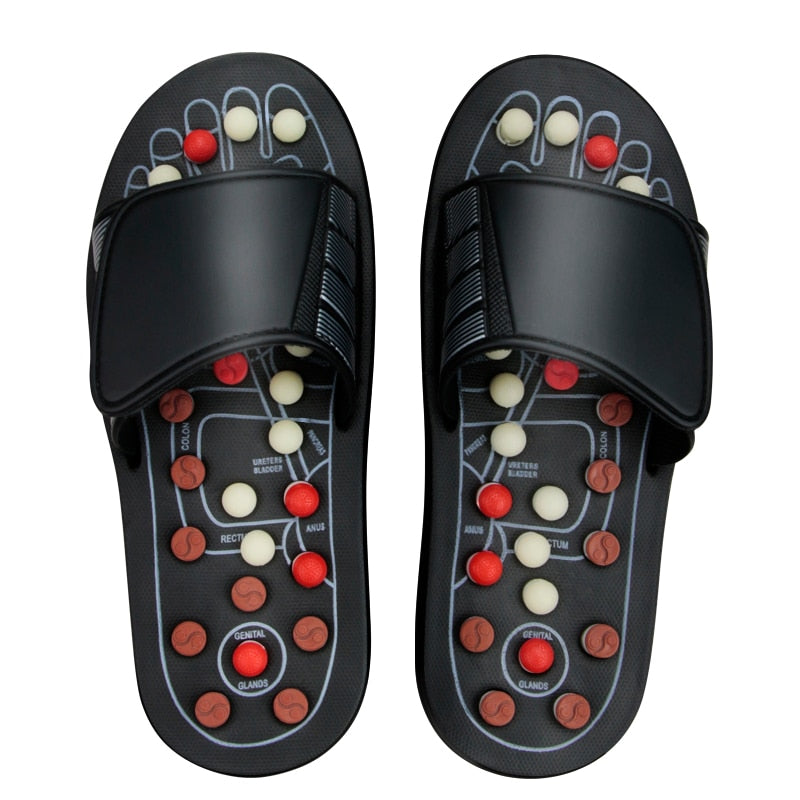 Slippers Foot Reflexology Acupuncture Therapy Massager Walk Stone Shoes Acupuncture Cobblestone Massager