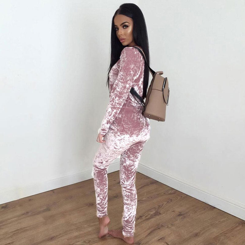Velvet Tracksuit Women Sets Winter 2 Piece Velour Set Women Sweat Suit Plus Size Sweatshirt Two Piece Ooutfits Ladies