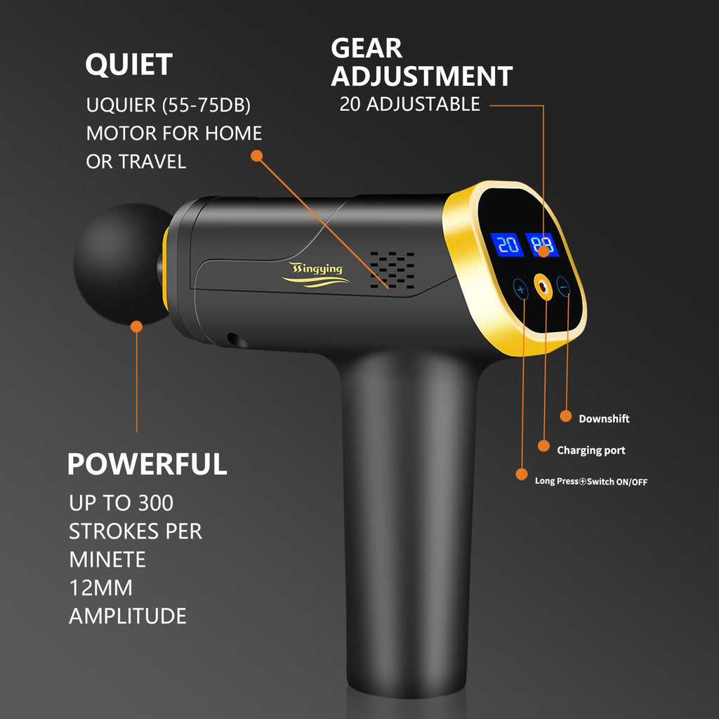 Massage Gun massager gun Neck Massager Vibration Fitness Equipment Noise Reduction Design Electric Massager Relax Muscle