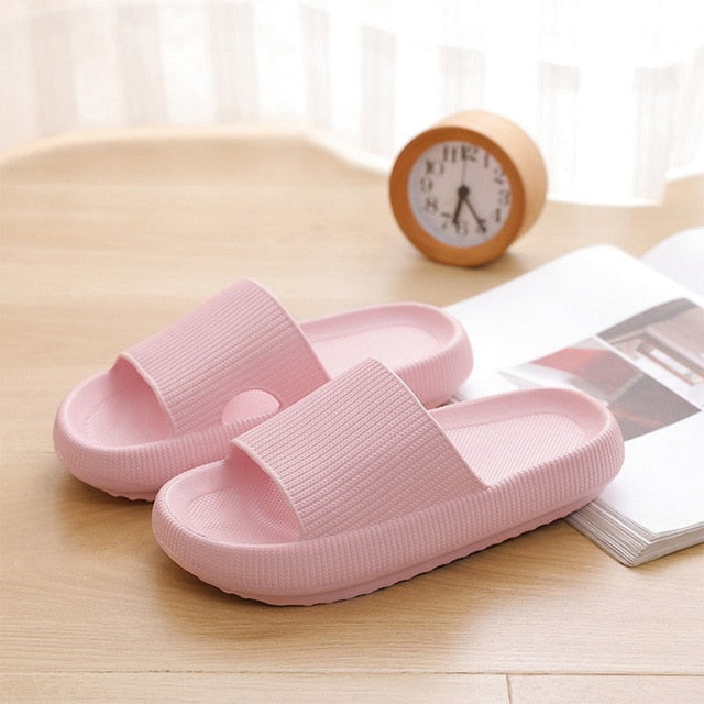 New Couple Slippers Unisex Shoes Indoor Home Soft Non-Slip Home Slippers Women Men Wear-Resistant Massage Comfortable Slippers
