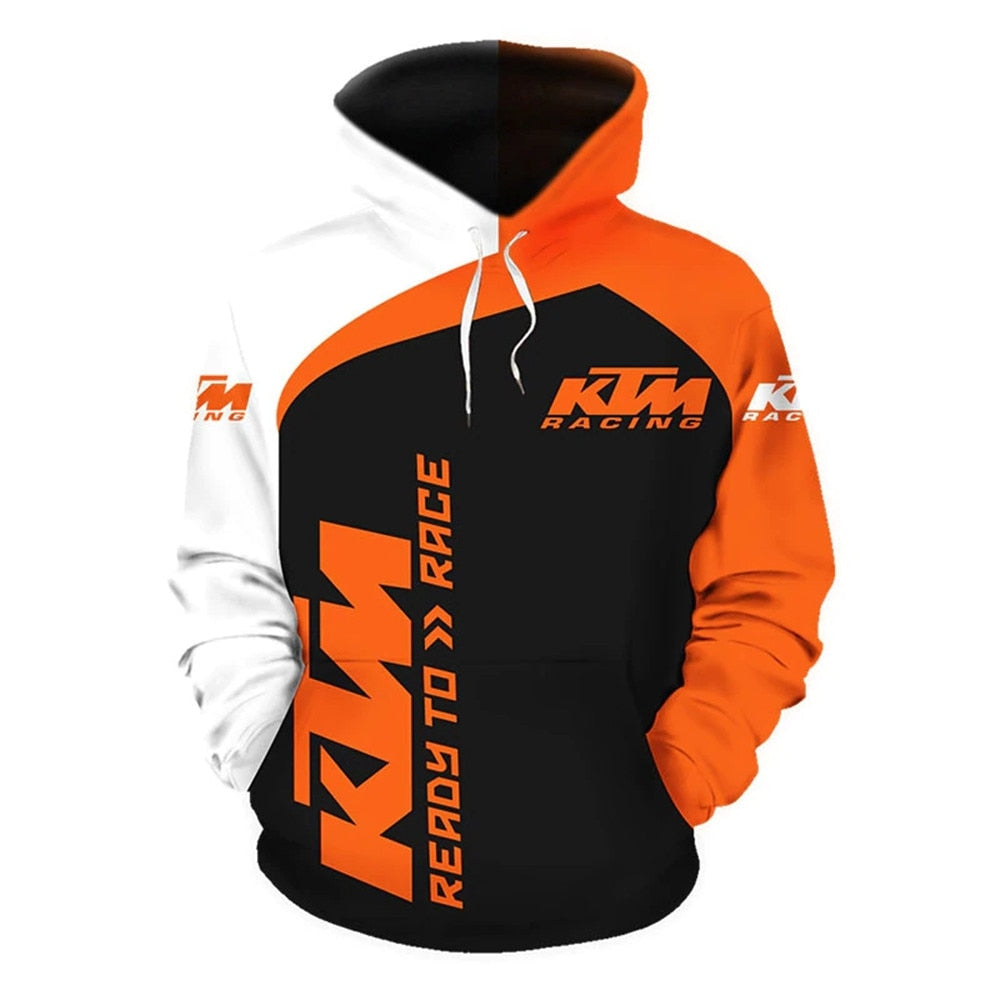 2021 Brand New Hoodie Motorcycle K T M Pullover 3D Digital Printing Men's Fashion Hooded Jacket Spring&Autumn Casual Sweatshirts