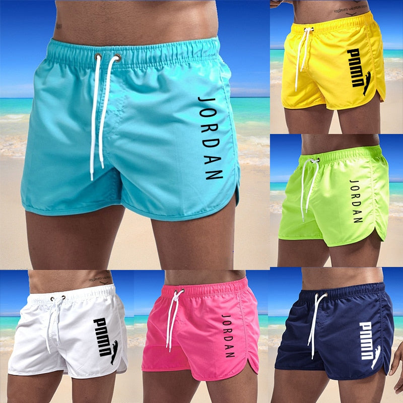 Summer Brand Men's Swimwear Shorts Printed Beachwear Sexy Swim Trunks Men Swimsuit Low Waist Breathable Beach Wear Surf 2021