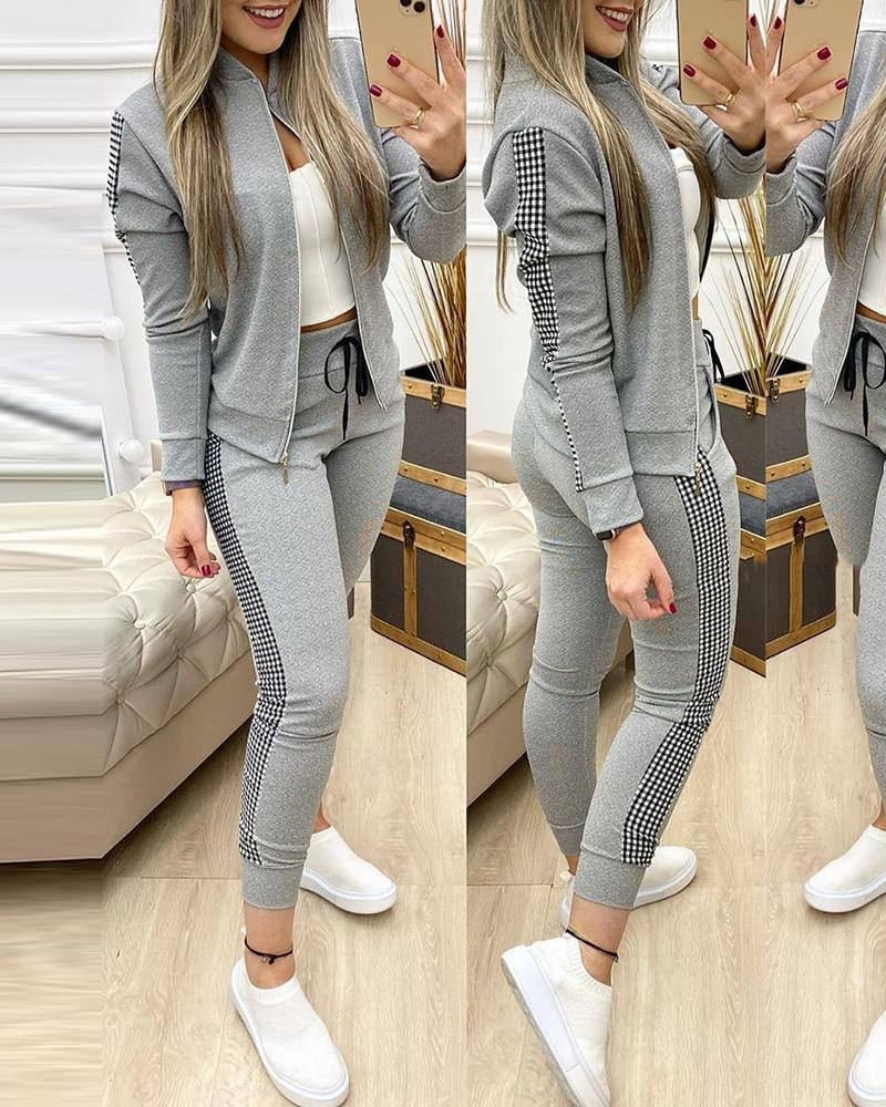 2021 Women Two Piece Set Outfits Autumn Women's Tracksuit Zipper Top And Pants Casual Sport Suit Winter 2 Piece Woman Set