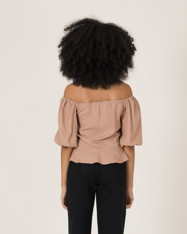 Brown Tiffany Top