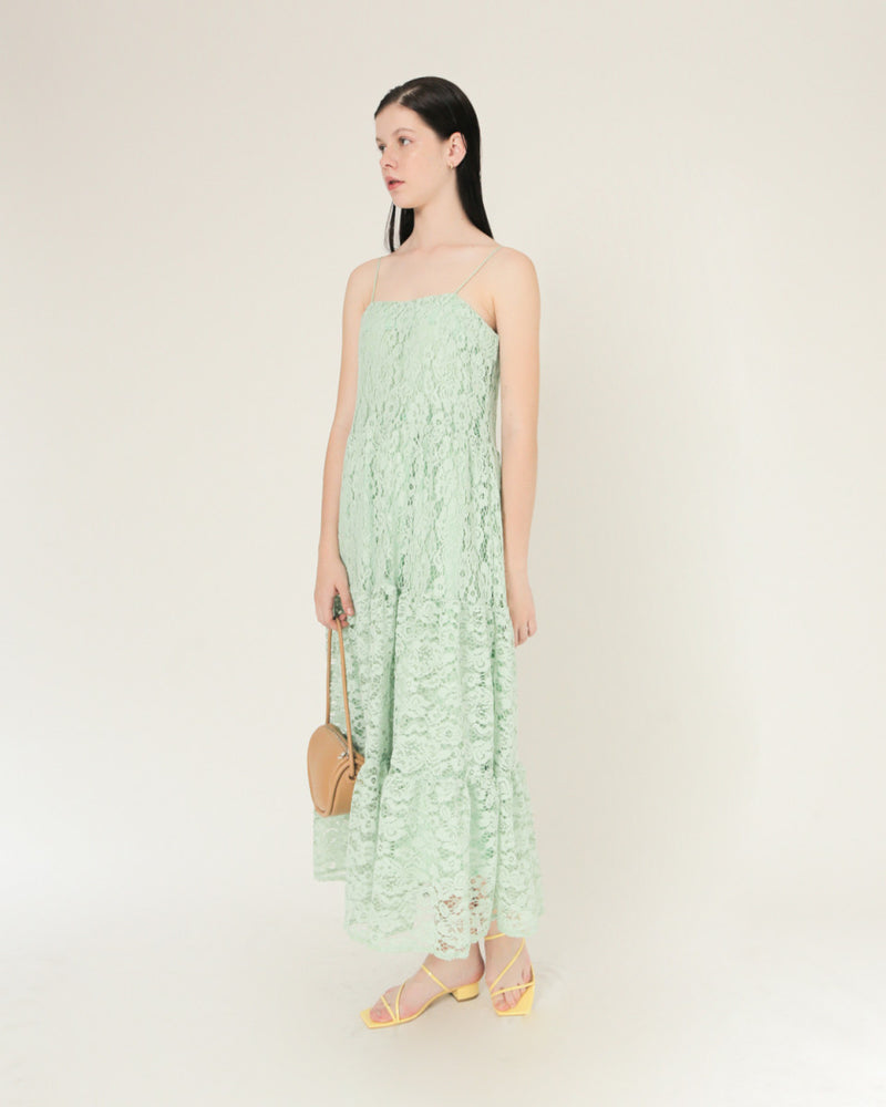 Green Lace Pheebs dress