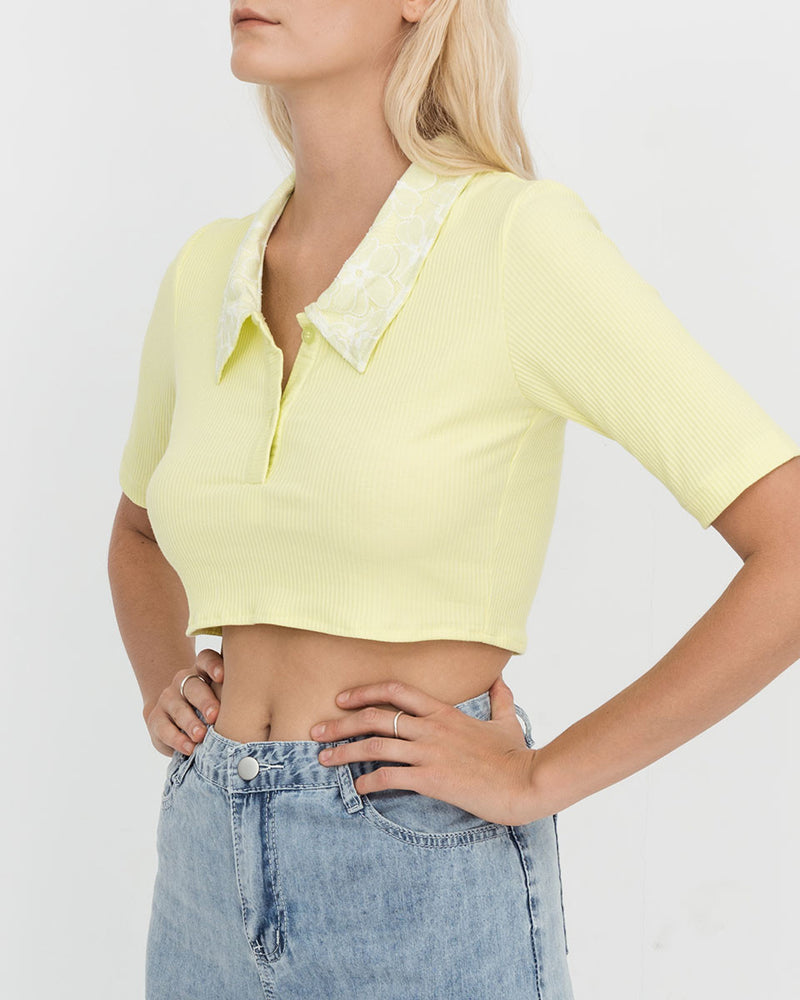 Lime Clarins Top
