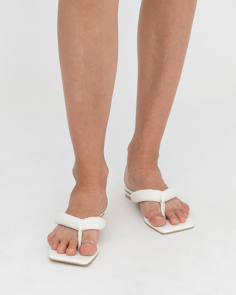 White Stacey Sandals