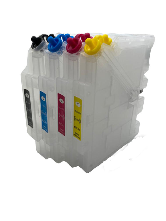 Empty Refillable Cartridges Compatible SG 400 SG 800 (CG41) printers 4-Pack
