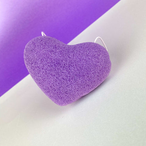 Heart Konjac Sponge - Purple