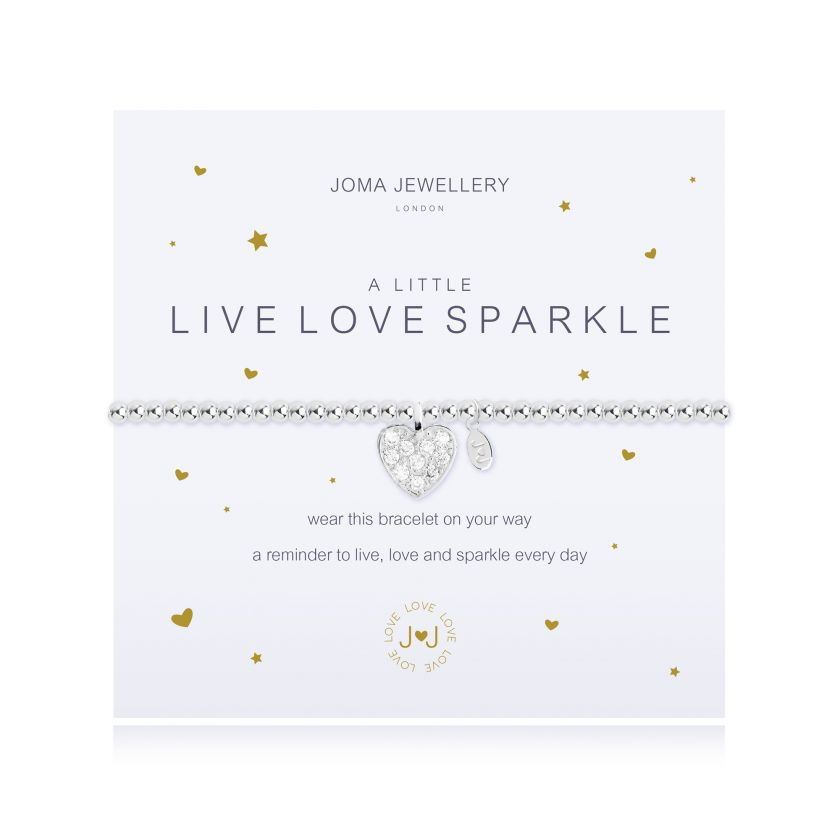 Joma Jewellery A Little Live, Love, Sparkle Bracelet