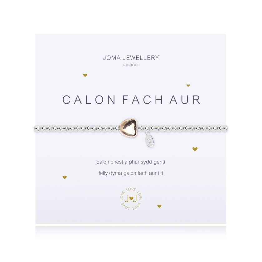 Joma Jewellery A Little Heart of Gold Bracelet (Welsh)
