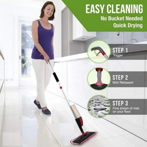SMART 360 Degree Healthy Spray Mop With Removable Washable Cleaning Pad