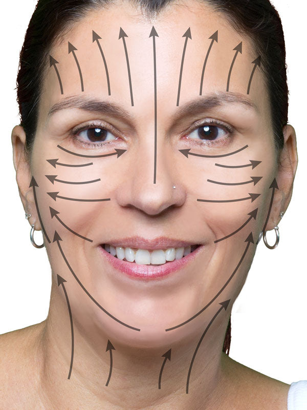 apply face life in such a way as to minimize stress on skin