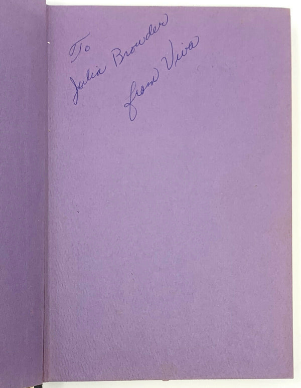 Superstar, Viva. Signed and Inscribed First Edition, 1st Printing. Warhol intere