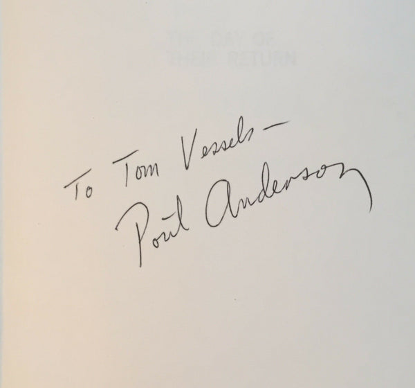 The Day of Their Return, Poul Anderson. Signed First Edition, 1st Printing.