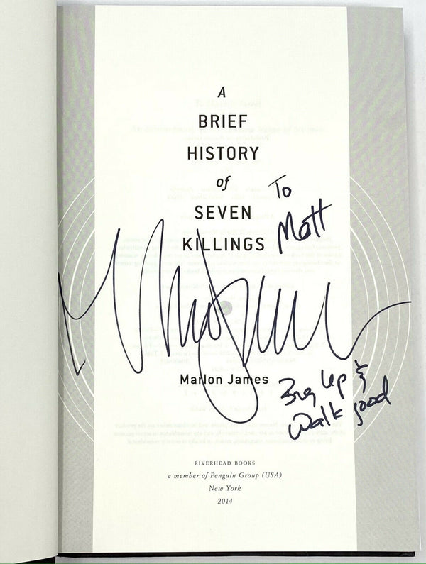 A Brief History of Seven Killings, Marlon James. Signed First Edition, 1st Print