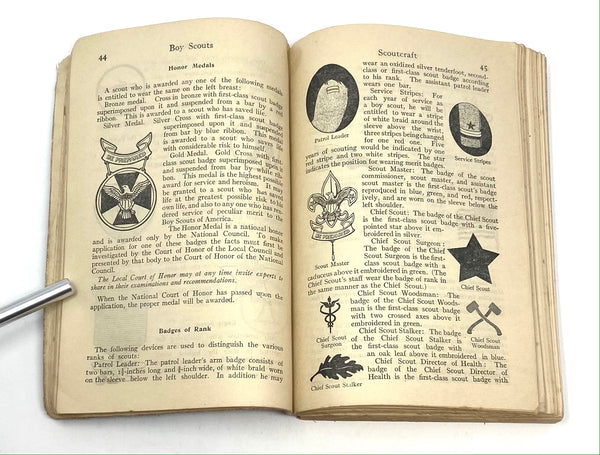 Boy Scouts of America: The Official Handbook for Boys, First Edition, First Issue ~ 1911.