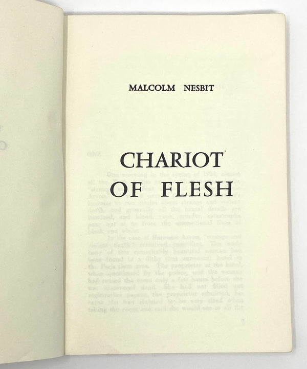 Chariot of Flesh, Malcolm Nesbit (Alfred Chester). Signed and Inscribed Edition ~ Tokyo: Keimeisha