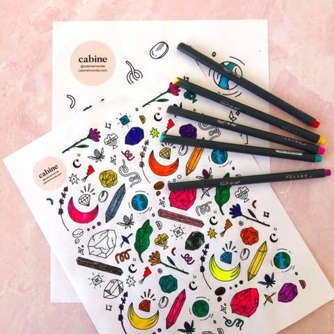Cabine's Pretty Things Coloring Pages