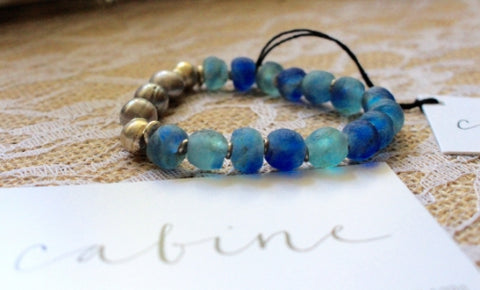 cabine's recycled glass bracelet