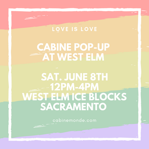 Cabine Pop-Up at West Elm Pride Weekend