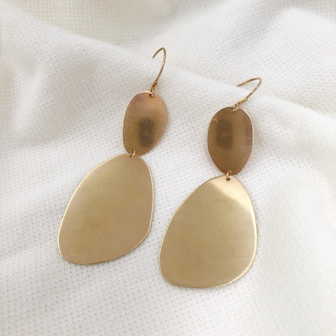 Raw Brass Earrings