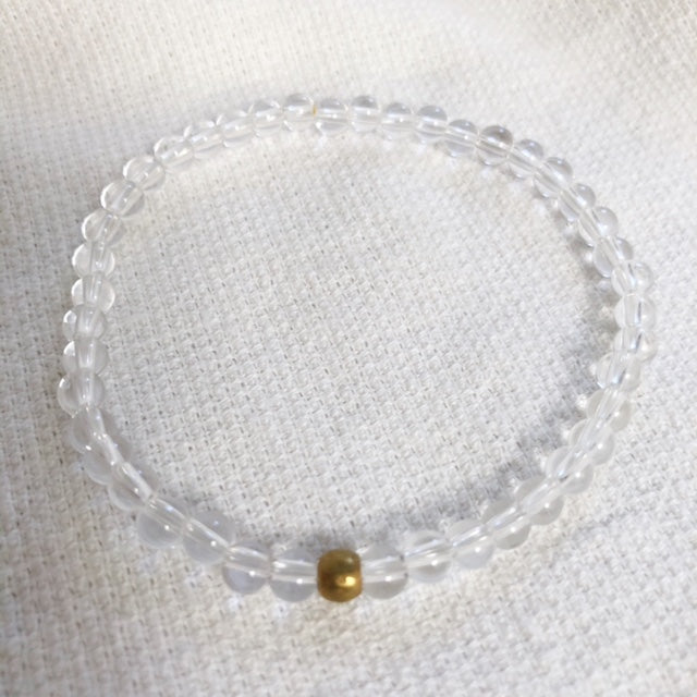clear quartz amplifier bracelet