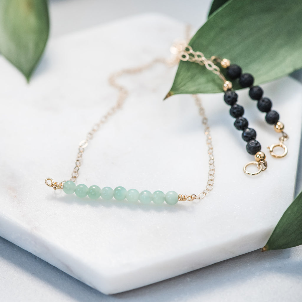 Jade Essential Oil Diffuser Necklace