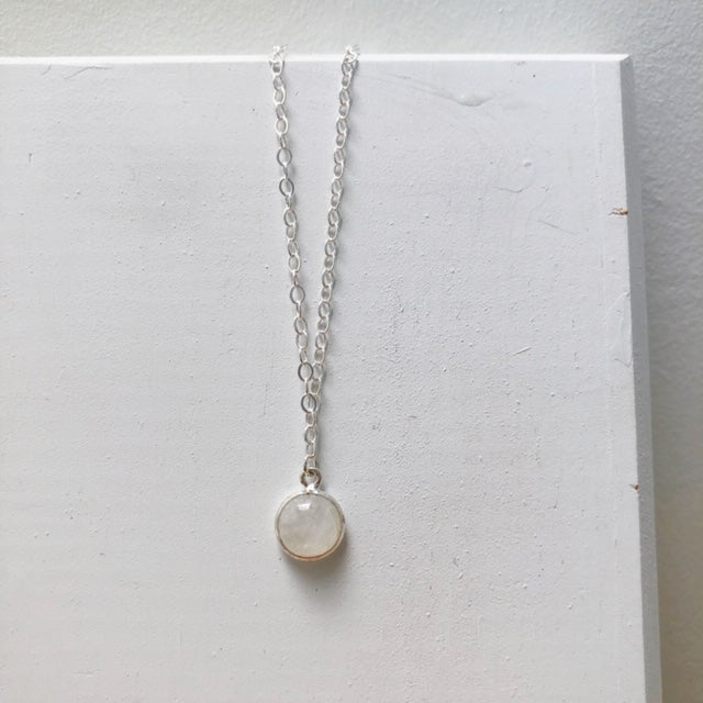 Moonstone Necklace in Sterling Silver