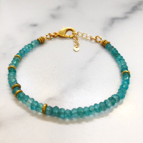 theia bracelet in apatite