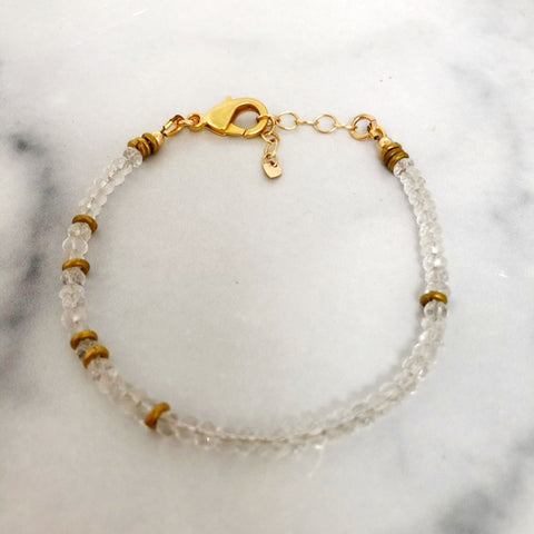 theia bracelet in clear quartz