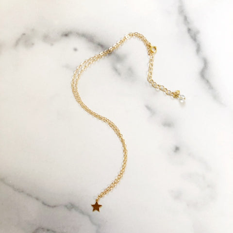 tiny star layering necklace