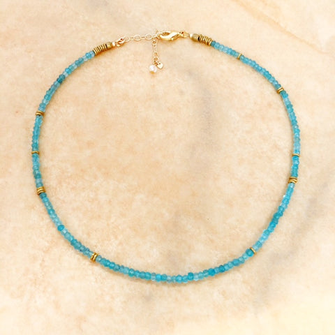 theia necklace in apatite