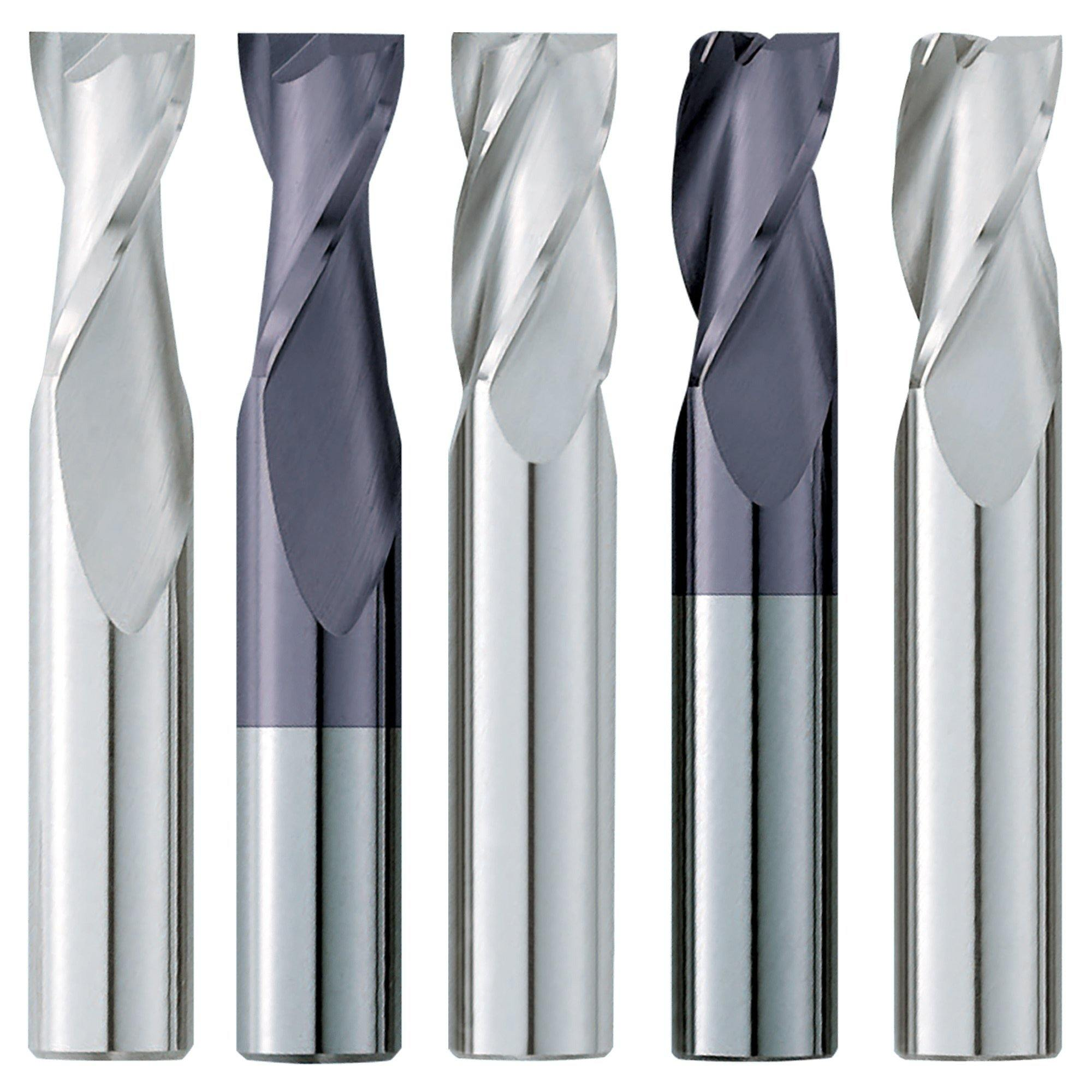 "(5 Pack) 3/16"" x 5/8"" x 2"" Standard Square Carbide End Mill - End Mill Store"